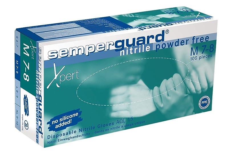 論理海外でジャンプSemperit 使い捨てニトリル手袋 Xpert 0.24mm 粉無 緑青 M(入数:100枚) 3000001628