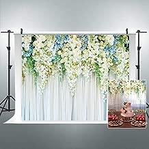 Riyidecor Bridal Floral Wall Backdrop Romantic White Rose Photography Background Marriage Dessert 7Wx5H Feet Decoration Wedding Props Party Photo Shoot Backdrop Vinyl Cloth