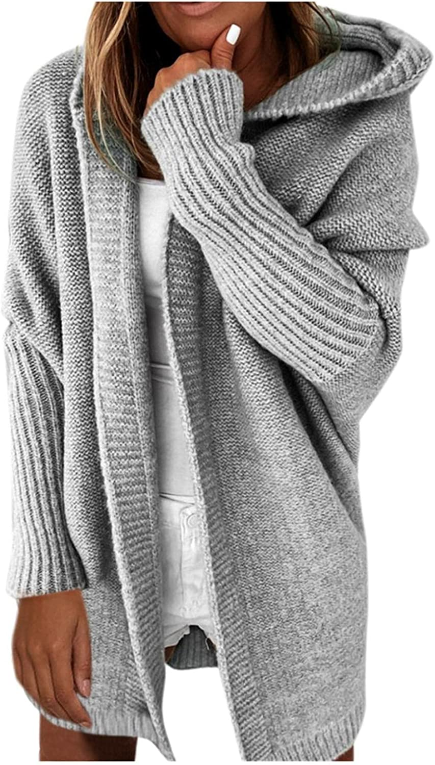 Deluxe XINXX Hooded Sweaters Over item handling Cardigans for Loose Sleeve Women Long Open
