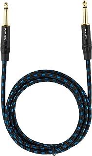 Cable para Guitarra y Instrumentos Macho a Macho de Ultra HDTV | Jack de 6.3 mm con Cable Trenzado de Nylon | Adaptadores de Metal | Conectores Dorados | Guitarra, Bajo, Teclado, Amplificador | 0,5 m