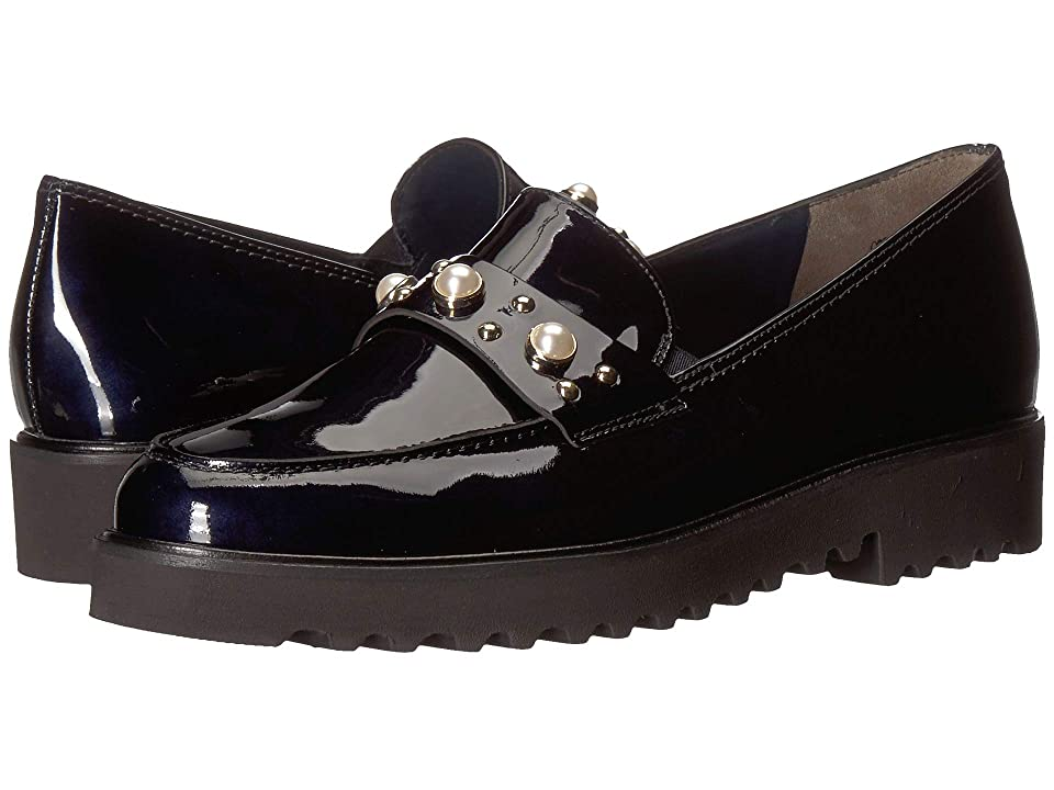 Paul Green Talia Loafer (Steel Blue Patent) Women's Slip on Shoes