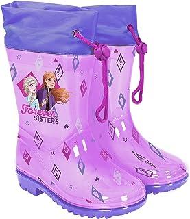 PERLETTI Bottes de Pluie La Reine des Neiges 2 - Boots Enfant Fille Princesse Disney Elsa et Anna Semelle Antidérapante EV...