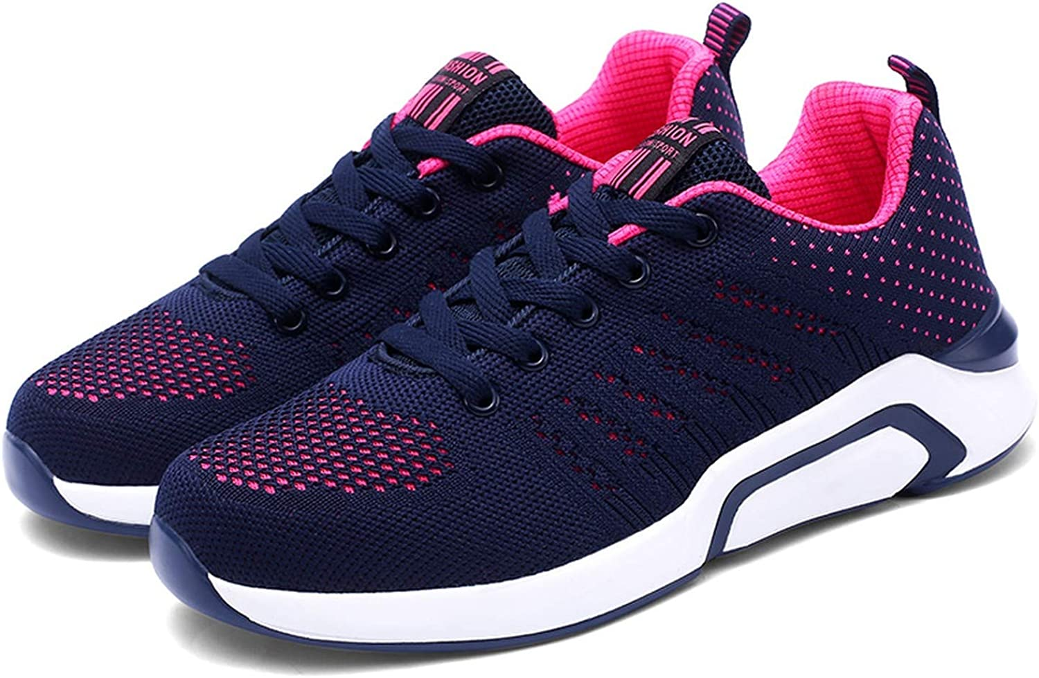 Little Happiness- 2019 Women shoesrs Platform Sneakers Outdoor Running shoes Mesh Lace-Up Sewing Med Wedges shoes