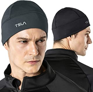 TSLA Men and Women (Pack of 1, 2) Thermal Fleece Lined Skull Cap, Winter Ski Cycling Cap Under Helmet Liner, Cold Weather ...