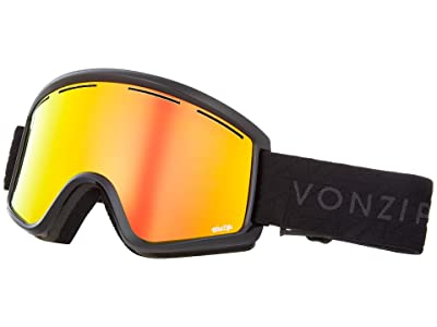 VonZipper Cleaver Goggle (Black Gloss/Wild Fire Chrome Lens) Snow Goggles