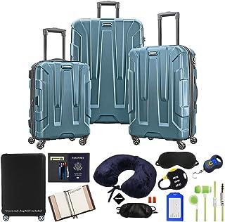 Samsonite 102691-2824 Centric 3pc Nested Hardside 20/24/28 Luggage Set - Teal Bundle w/Luggage Accessory Kit (10 Item)