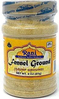 Rani Fennel Ground (Saunf) Powder Spice 3oz (85g) All Natural ~ Gluten Free Ingredients   NON-GMO   Vegan   Indian Origin