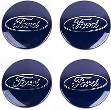 Insignias Ford con el distintivo de la marca para el centro del eje de las llantas del coche color azul 4 piezas de 60 mm.
