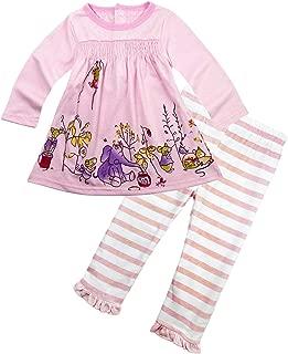 BIG ELEPHANT Baby Girls' Infant Toddler Dress Pants Clothing Set G12
