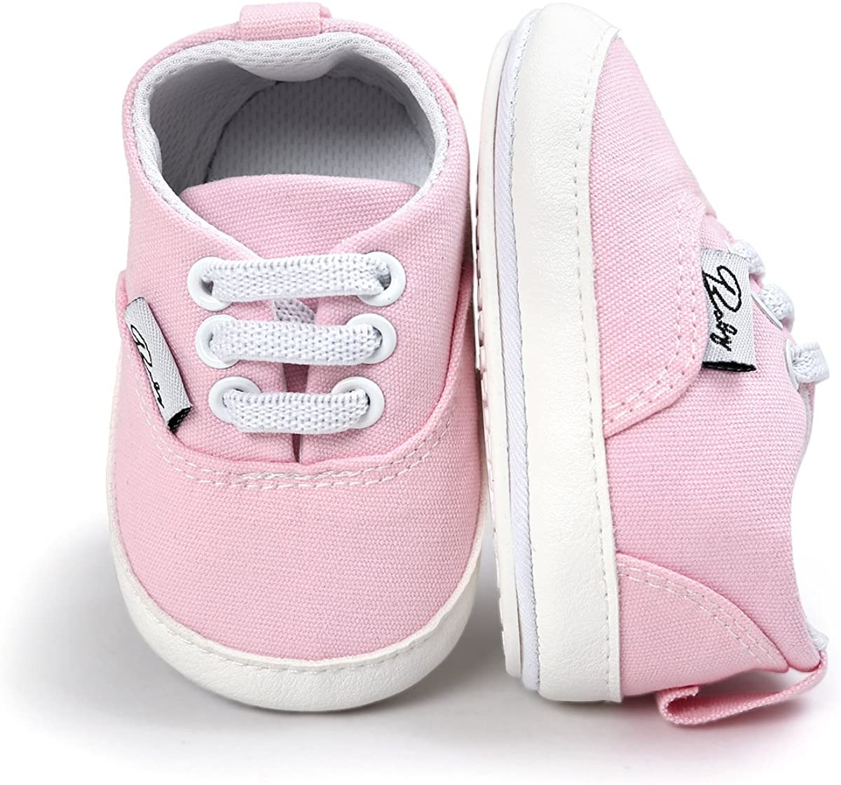 Baby Boys Girls San Antonio Mall Canvas Shoes Premium Infant Sole Snea Basic Soft Easy-to-use