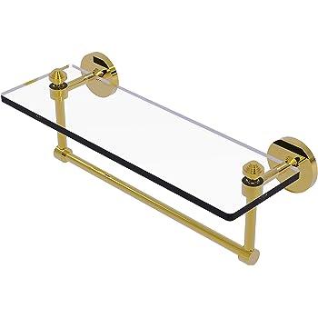 16-Inch x 5-Inch Allied Brass DT-1TB//16-ABR Glass Shelf with Towel Bar