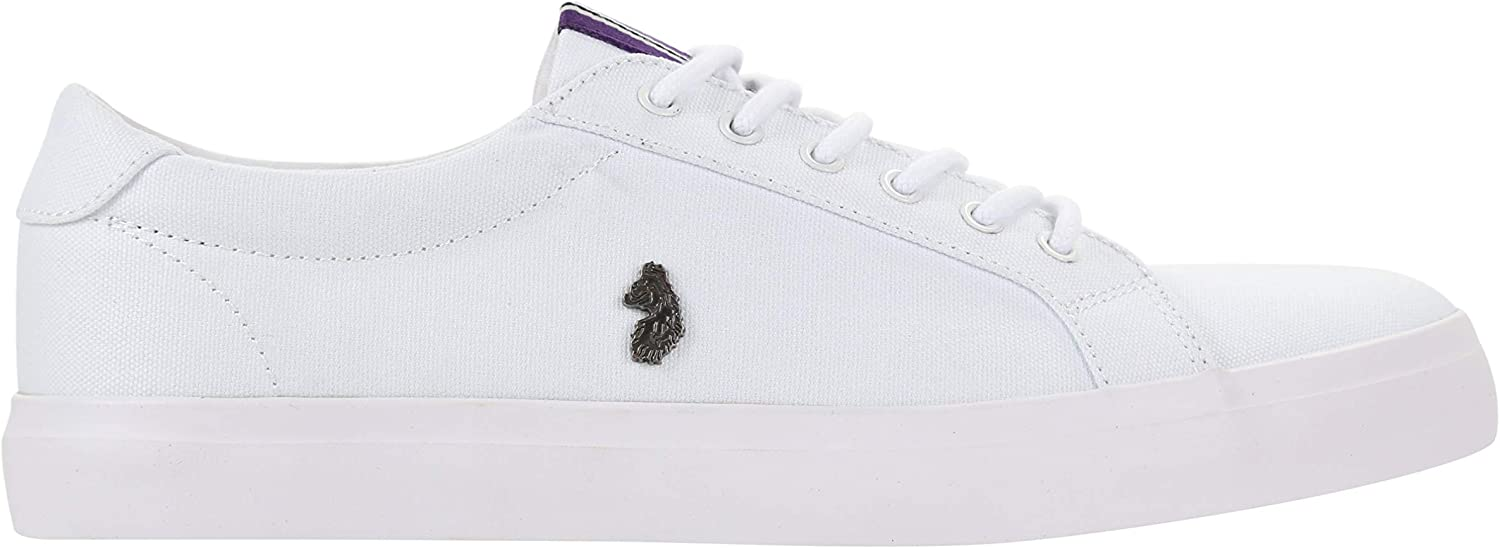 LUKE 1977 Arnie Low Cut Canvas Trainer White