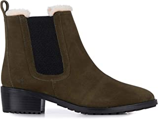 Ellin Suede Womens Cow Suede Waterproof Boots