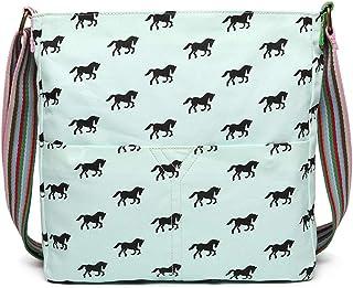حقائب Miss Lulu كروسبودي للنساء قماش بطباعة الحصان حقيبة مدرسية للبنات ذات وزن كبير
