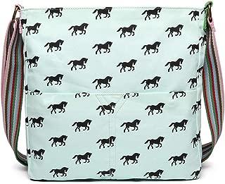 Messenger Bag Cross Body School Shoulder Satchel Horse Canvas
