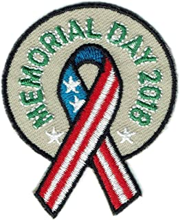 Girl Boy cub Memorial Day 2018 Ribbon Parade Patches Badges Scouts Guides