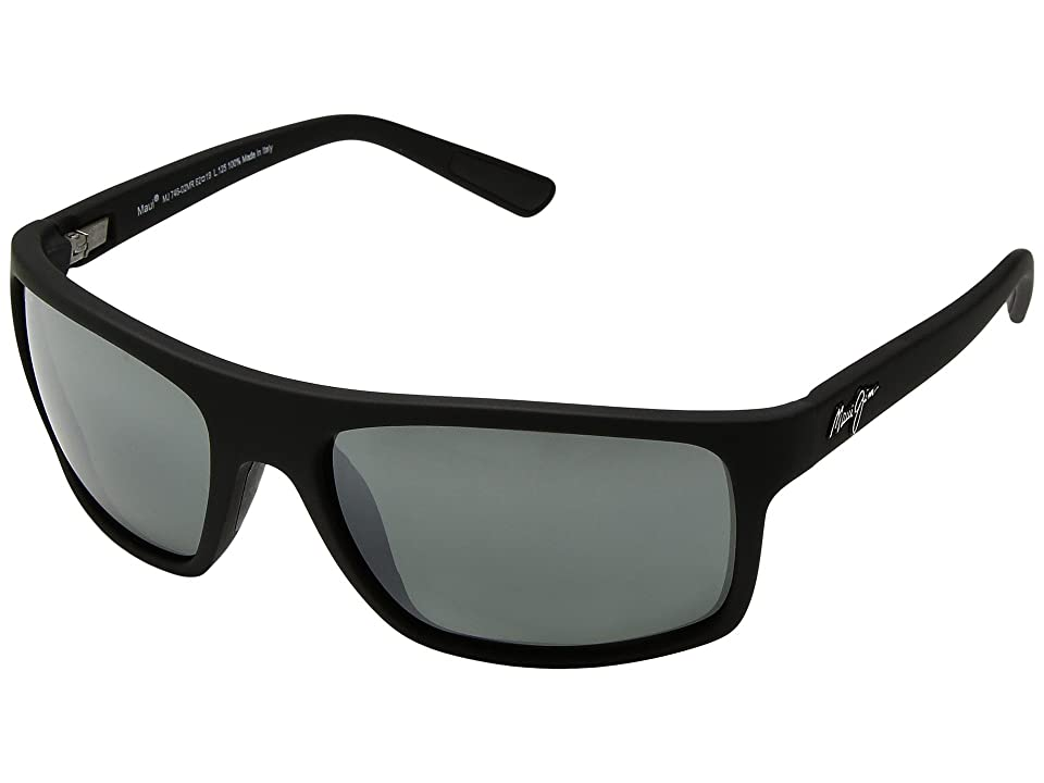Maui Jim Byron Bay (Matte Black Rubber/Neutral Grey) Athletic Performance Sport Sunglasses