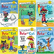 I Can Read Pete the Cat Beginning Reading Six Book Set : Pete the Cat Play Ball, Big Lunch, Sir Pete the Brave, The Surprise Teacher, Snow Daze, Too Cool for School