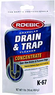 Roebic Laboratories K-67 Granular Concentrate Drain and Trap Cleaner, 16-Ounce Bag