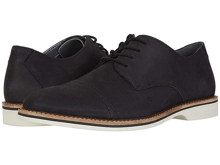 Clarks  Atticus Cap (Black Nubuck) Mens Shoes