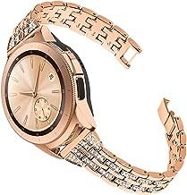 Joyozy Compatible with Samsung Galaxy Watch 42mm Band, Gear Sport SM-R600/ Gear S2 Classic SM-R732/SM-R735 Gear S4 Strap 20mm Watch Bracelet Diamond Wristband (Rose Gold)