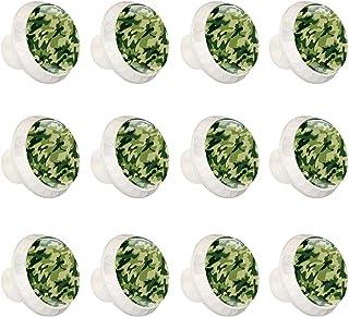 Boutons D'armoire 12 Pcs Poignés Poignée De Champignons Porte Poignées avec Vis pour Cabinet Tiroir Cuisine,Camouflage