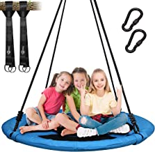 Trekassy 700lb Saucer Tree Swing for Kids Adults 40 Inch 900D Oxford Waterproof Frame Includes 2 Tree Hanging Straps