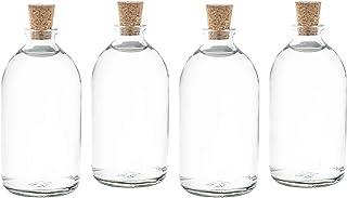 casa-vetro 25 X Mini Botellas Botellas de Cristal pequeñas (con tapón de Corcho