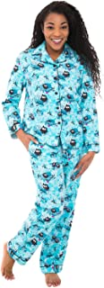 Alexander Del Rossa Women's Warm Flannel Pajama Set, Long Novelty Button Down Cotton Pjs