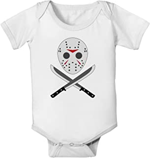 Scary Mask with Machete - Halloween Baby Romper Bodysuit