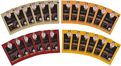 Aufschnitt Beef Jerky Variety Pack - 24 pk (2 Oz Each) | Kosher (Star-K Certified) | USDA Certified 100% Grass Fed Beef | Gluten Free, No Nitrites | Original, BBQ, Teriyaki And Spicy Flavors