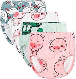 Brussels08 Baby Cotton Training Pants Reusable Toddler Potty Training Pants Washable Infant Nappies Diaper Cloth Training Underwear