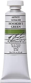 M. Graham 1/2-Ounce Tube Gouache Paint, Hooker's Green