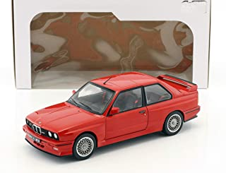 Solido S1801502 1990 BMW E30 M3 Die Cast Car, Red, 1:18 Scale