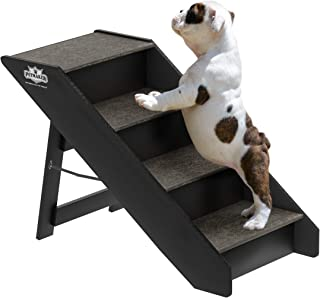 PETMAKER Folding Pet Stairs-Carpeted Foldable Durable Wood Steps-Compact Collection