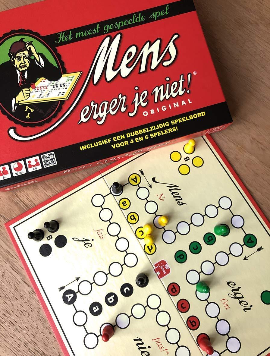 Jumbo Mens Erger Je Niet Original Niños Juego de Mesa de Carreras - Juego de Tablero: Amazon.es: Juguetes y juegos