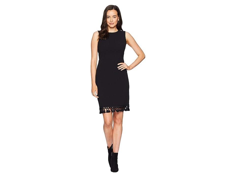 Calvin Klein Fringe Hem Dress CD8C15WR (Black) Women