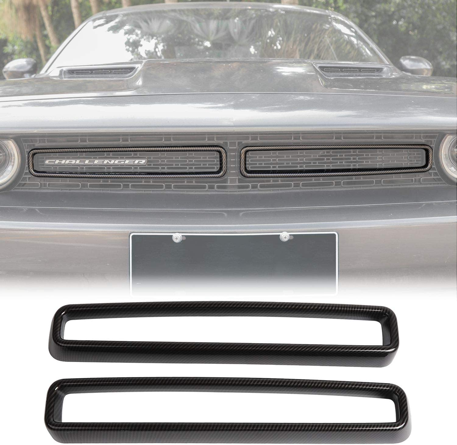 Voodonala for Challenger Front Grill Trim Ac Mesh Inserts Grille Max 44% OFF Year-end gift