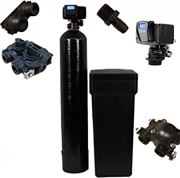 DURAWATER FLECK 5600SXT DIGITAL METERED WATER SOFTENER 32,000 GRAIN WITH UPGRADED 10 PERCENT CATION RESIN: image