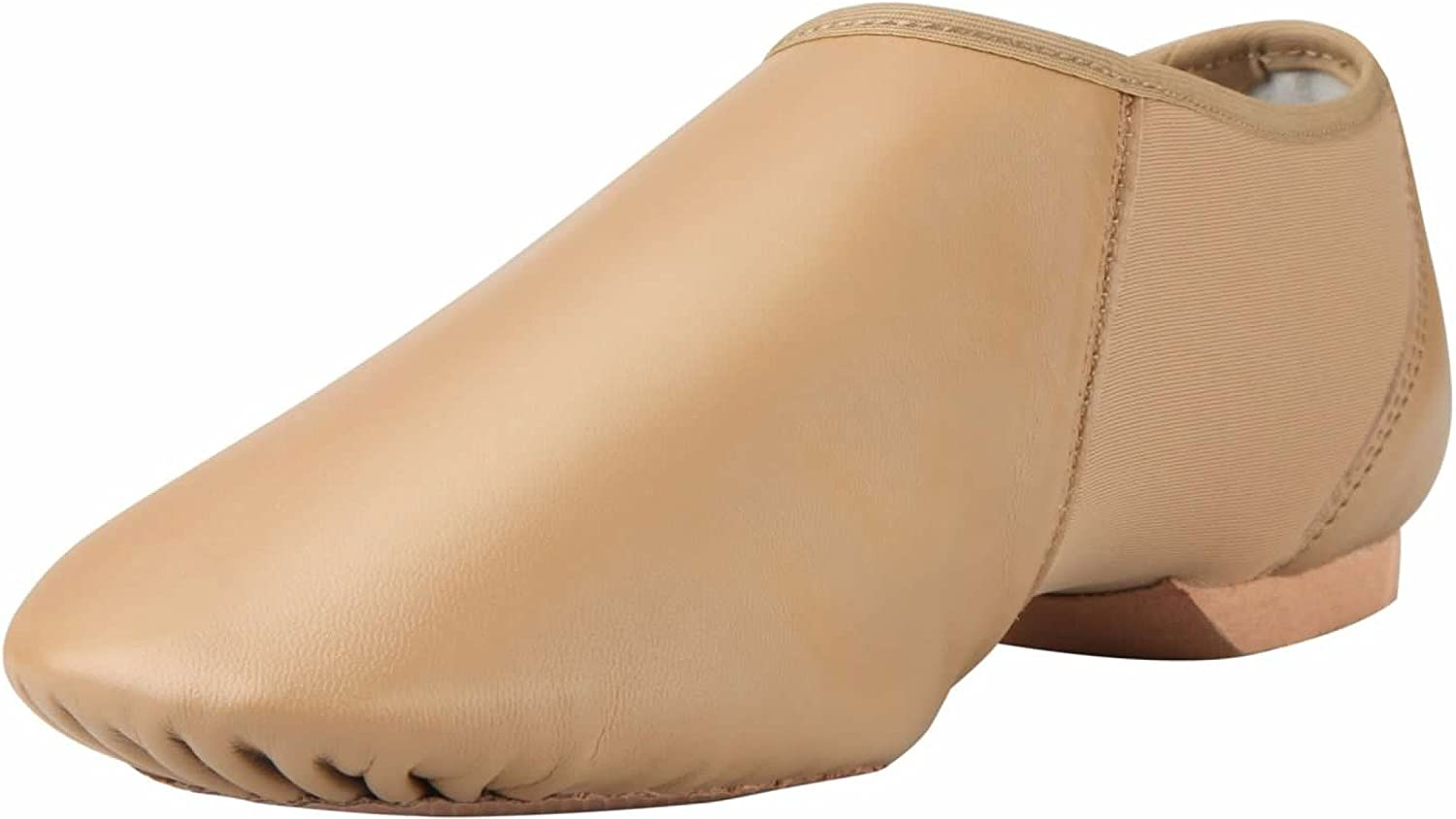 ARCLIBER Adults Brown Leather Jazz Dance shoes 7.5M US