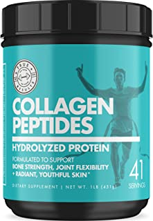Collagen Peptides Protein Powder - Pure Hydrolyzed Collagen Peptide Powder Supplement for Men and Women - Promotes Radiant...