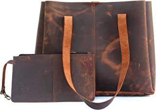 Genuine Soft Buffalo Leather Tote Bag Elegant Shopper Shoulder Bags by Lust Leather