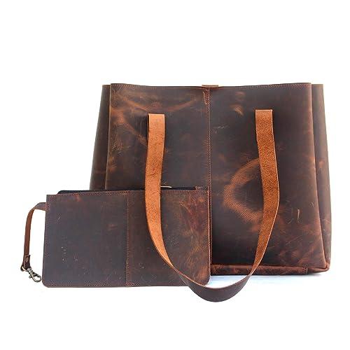 bb49d513e255 Genuine Soft Buffalo Leather Tote Bag Elegant Shopper Shoulder Bags by Lust  Leather