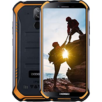 DOOGEE S40 Dual SIM 4G Movil Todoterreno, Android 9.0 Telefonos Moviles Libres Antigolpes IP68/IP69K Impermeable 3GB+32GB 4650mAh 5.5, Cámara 8MP+5MP NFC Huella Dactilar Desbloqueo Facial: Amazon.es: Electrónica