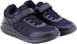 Arctic Fox Superlight Weight Velcro Black School Shoes for Boy's & Girl's (Unisex)