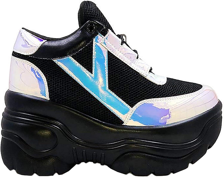 Y.R.U. YRU Matrixx Platform Sneakers in Black Atlantis