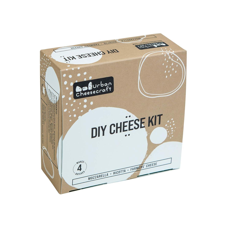 Mozzarella, Ricotta & Farmers' Cheese Kit - 4 Batches, Make Cheese in 1 Hour, Vegetarian, Gluten Free & Non-GMO