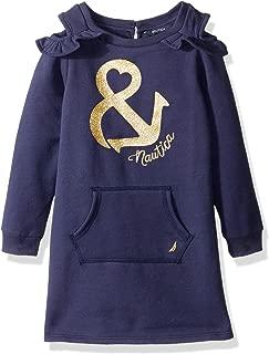 Girls' Anchor Sweater Dress