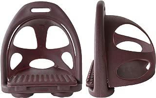 CHALLENGER Horse Saddle English Composite Safety Endurance Stirrups Removeable Cage 51166BR