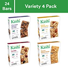 Kashi Chewy Granola Bars Variety Pack - Chocolate Almond Sea Salt | Honey Almond Flax | Trail Mix | Peanut Peanut Butter - 24 Pack